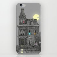 house stark iPhone & iPod Skins featuring Haunted by the 80's by Terry Fan