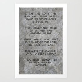 10 Commandments Faux Stone Tablet Case 1 of 2 Art Print