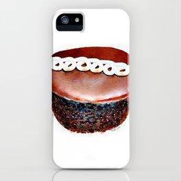 Hostess Chocolate CupCake Watercolour iPhone Case