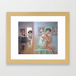 The Walls Have Ears Framed Art Print