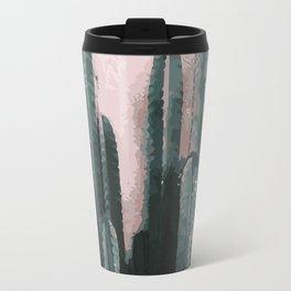 Cactus on Pink Background Travel Mug