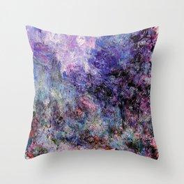 Monet : The House Seen From the Rose Garden Throw Pillow