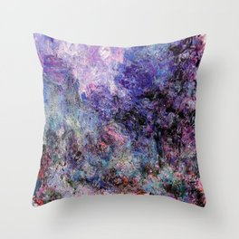 Monet : The House Seen From the Rose Garden Throw Pillow