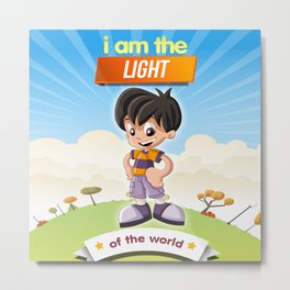 I am the Light of the world. Metal Print