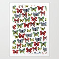 Flutterby Butterfly Art Print