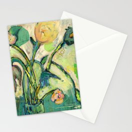 'Joy' Contemporary Floral   Stationery Cards