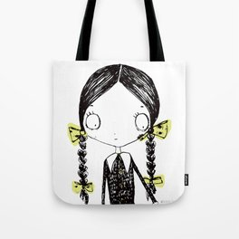 Wednesday Addams Illustrated Tote Bag