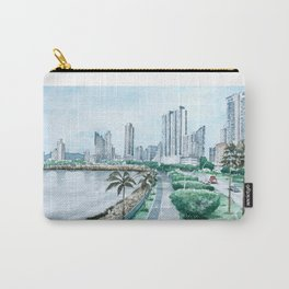 Urban watercolor - Panama Carry-All Pouch
