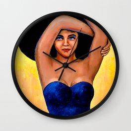 La Mujer del Sombrero Wall Clock