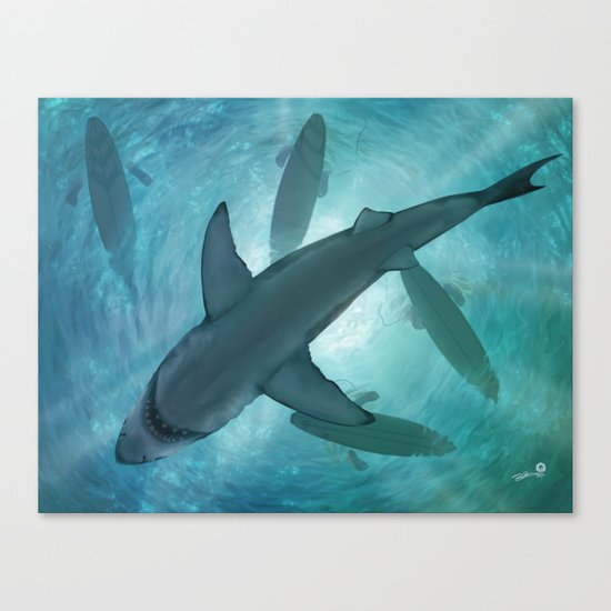 Great White Canvas Print