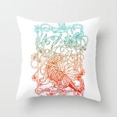 Harmony of life Throw Pillow