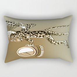 Pre-Columbian  Jaguar Shaman Rectangular Pillow