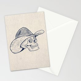 Cowboy Skull with Halftones Stationery Cards