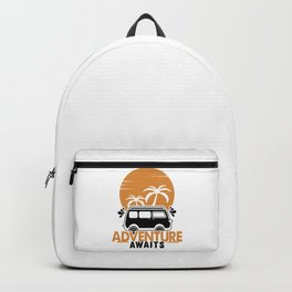 Adventure Awaits bw Backpack