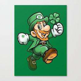 Lucky Mario Leprechaun Canvas Print