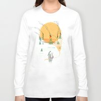norway Long Sleeve T-shirts featuring Beach House - Norway by Valentina Gruer