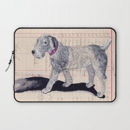 Vintage Celluloid Dog in Gouache Laptop Sleeve