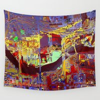 miami Wall Tapestries featuring miami by donphil