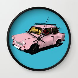 Trabant pink pop Wall Clock