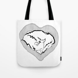 Cat Heart Tote Bag