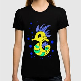 Lovely and funny seahorse cartoon T-shirt