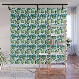 Kawaii Cute Pears Pattern Wall Mural