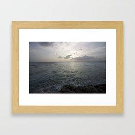 Sunset seascape Framed Art Print