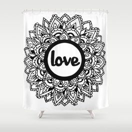 Equanimity / Love Shower Curtain