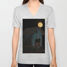 Moon on the Rise Unisex V-Neck
