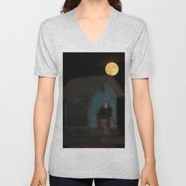 Moon on the Rise Unisex V-Neck