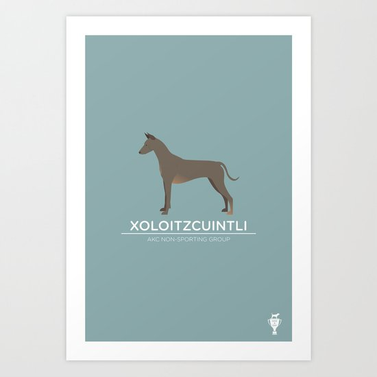 Xoloitzcuintli Art Print