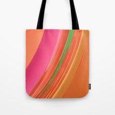 Peach Apricot Mango Bold Stripes Tote Bag