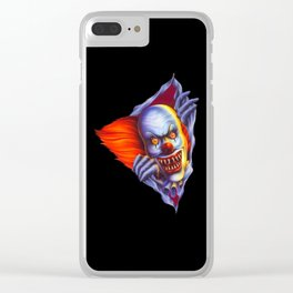 THE EVIL CLOWN Clear iPhone Case