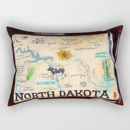 NORTH DAKOTA map Rectangular Pillow