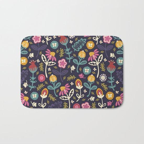 Ditsy Flowers Bath Mat