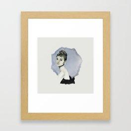 Audrey and ink Framed Art Print