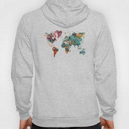 Map of the World triangle Hoody