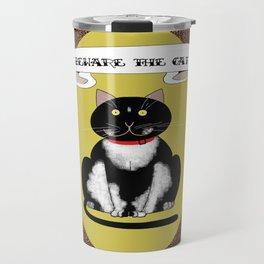 Beware the Cat Travel Mug