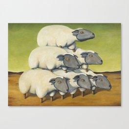 Sheep Stack Canvas Print