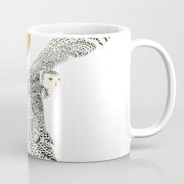 Art print: The snowy owl in flight Coffee Mug