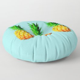 Fresh pineapples Floor Pillow