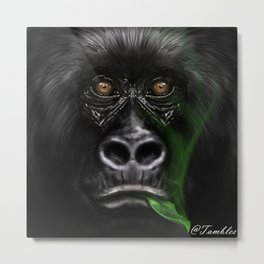 Mountain Gorilla - Endangered Metal Print