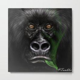 Mountain Gorilla - Endangered Metal Print