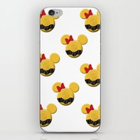 c3po iPhone & iPod Skins featuring C3PO Mouse  by Miranda Copeland