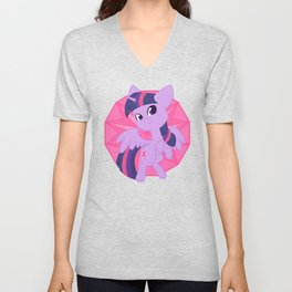 Chibi Princess Twilight Sparkle Unisex V-Neck