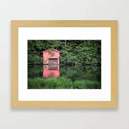 Mirror Lake House Framed Art Print