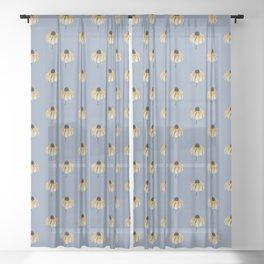Blackeyed Susan Sheer Curtain