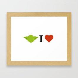 Yoda I Love Framed Art Print