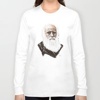 darwin Long Sleeve T-shirts featuring Darwin - great man by graphicbrain