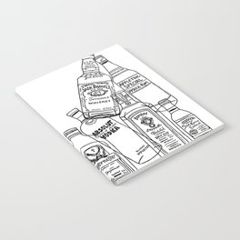 Alcohol Bottles (White) Notebook